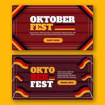Ensemble de bannières horizontales oktoberfest