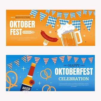 Ensemble de bannières horizontales pour l'oktoberfest