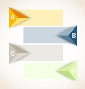 Ensemble de bannières infographiques avec des flèches
