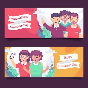 Ensemble de bannières de la journée internationale de l'amitié