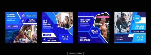 Ensemble de bannières de médias sociaux, annonces marketing et promotion