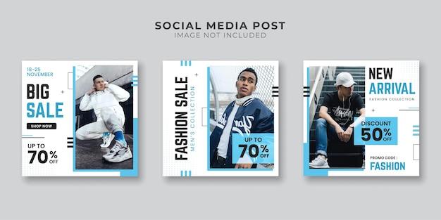 Ensemble de bannières de médias sociaux de mode