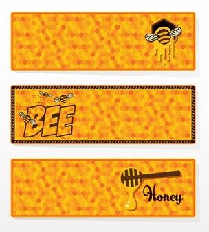 Ensemble de bannières de miel.