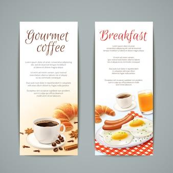 Ensemble de bannières de petit déjeuner