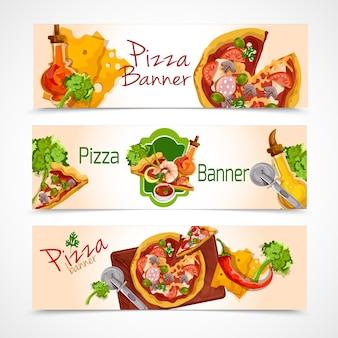 Ensemble de bannières de pizza