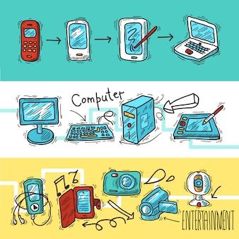 Ensemble de bannières pour appareils numériques