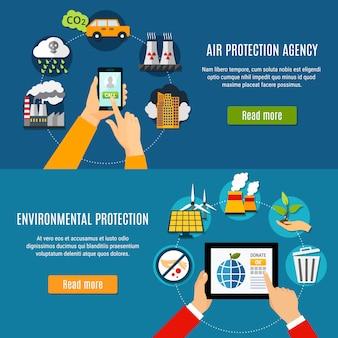 Ensemble de bannières de protection de l'environnement