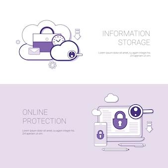 Ensemble de bannières de stockage d'informations et de protection en ligne