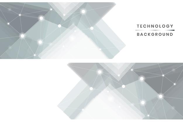 Ensemble de bannières de technologie