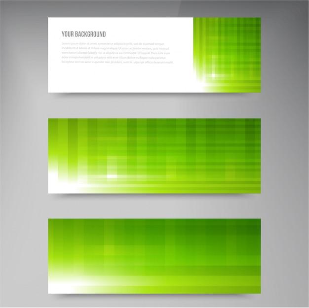 Ensemble de bannières vectorielles modernes avec des lignes