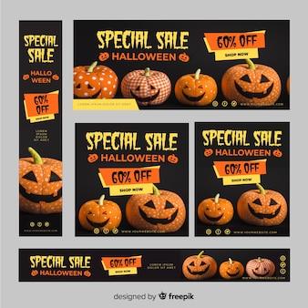 Ensemble de bannières de vente halloween