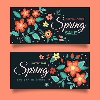 Ensemble de bannières de vente de printemps