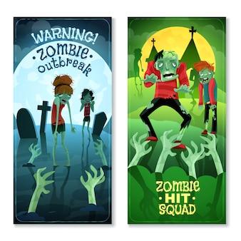 Ensemble de bannières zombie