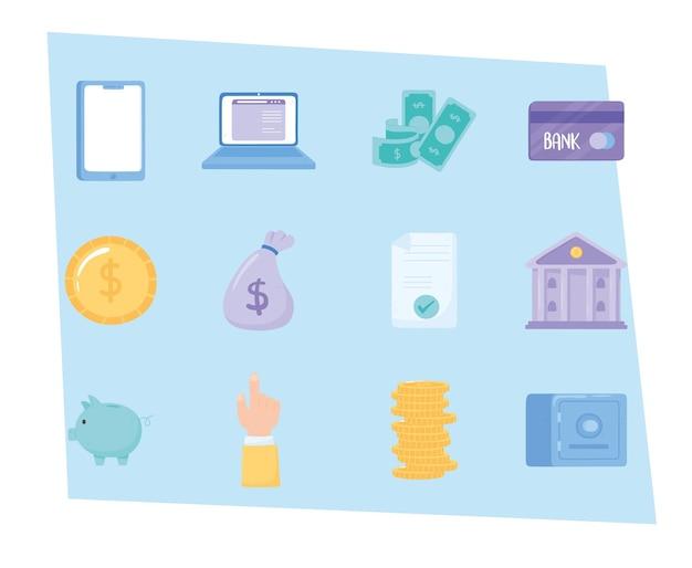 Ensemble de banque en ligne