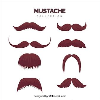 Ensemble de barbes et moustaches
