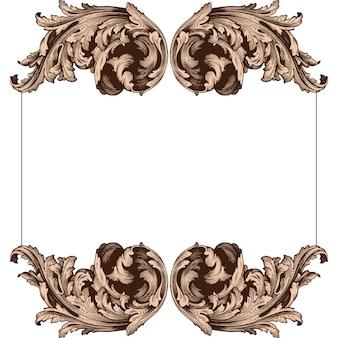 Ensemble baroque classique d'éléments vintage.