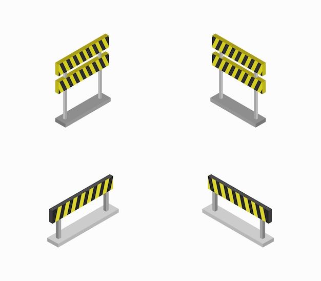Ensemble de barrages routiers isométriques