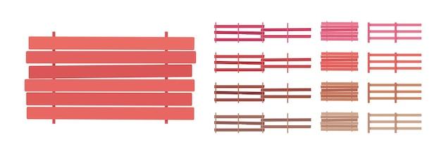 Ensemble de barrière en bois de clôture, maison et terrain, élément de protection de chalet