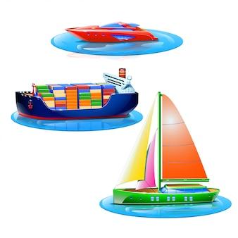 Ensemble de bateaux