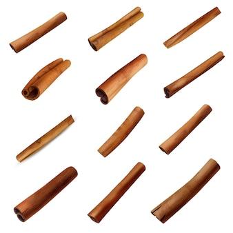 Ensemble de bâtons de cannelle