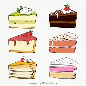 Ensemble de beaux gâteaux d'anniversaire