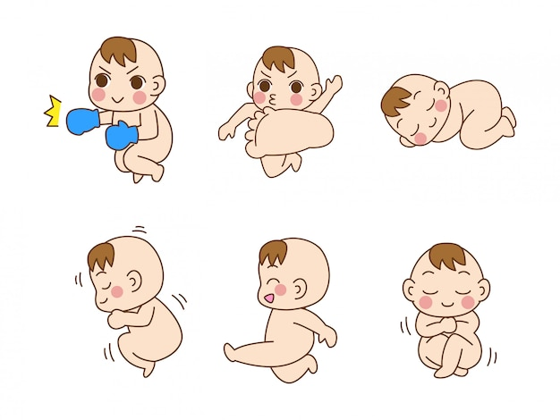 Ensemble de bébé mignon
