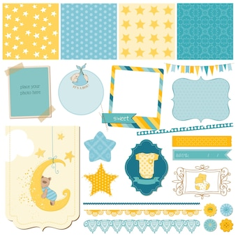 Ensemble bébé ours scrapbook