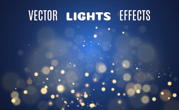 Ensemble de belles étoiles brillantes. effet lumineux. bright star.white glitter scintille avec un effet de lumière spécial. scintille sur un fond transparent.