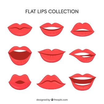 Ensemble de belles lèvres