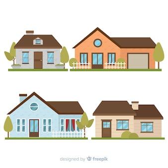 Ensemble de belles maisons