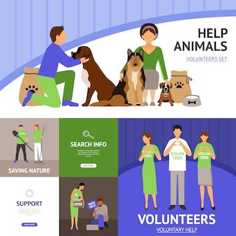Ensemble de bénévoles