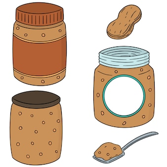 Ensemble de beurre de cacahuète