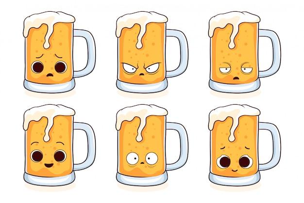Ensemble de bière mignonne
