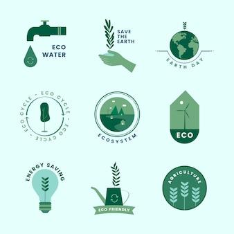 Ensemble de bio et aller des icônes vertes