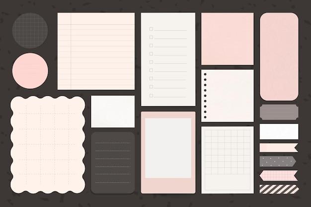 Ensemble de bloc-notes de papeterie de bureau