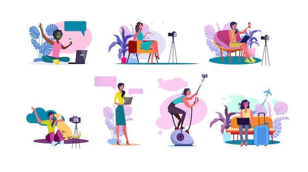 Ensemble de blogueurs vidéo