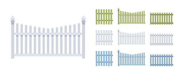 Ensemble en bois de clôture