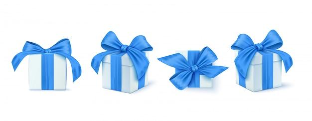 Ensemble de boîte de cadeaux. collection cadeaux réalistes