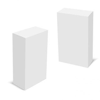 Ensemble de boîtes en carton blanc
