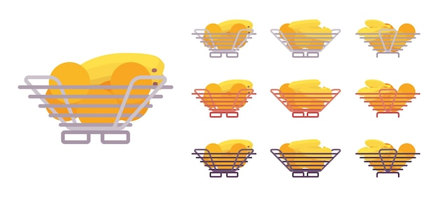 Ensemble de bol de fruits