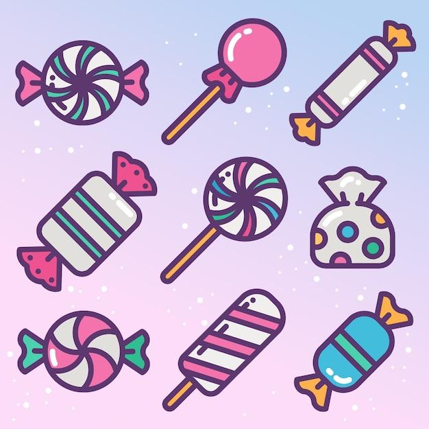 Ensemble de bonbons et bonbons