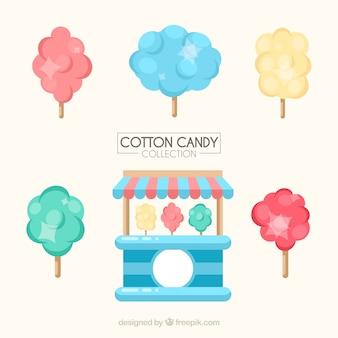 Ensemble de bonbons en coton