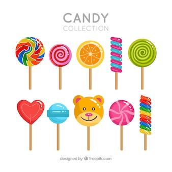 Ensemble de bonbons délicieux