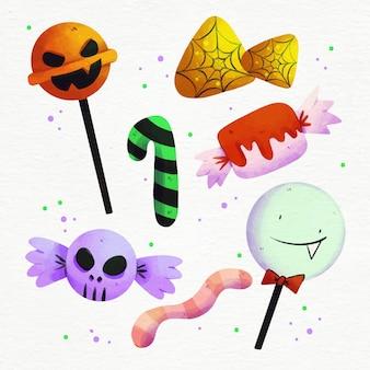 Ensemble de bonbons festival halloween