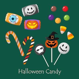 Ensemble de bonbons d'halloween.