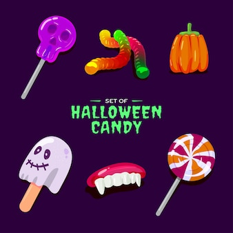Ensemble de bonbons d'halloween