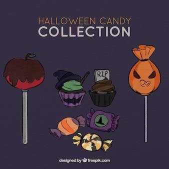 Ensemble de bonbons savoureux pour halloween