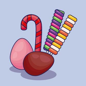 Ensemble de bonbons sucrés