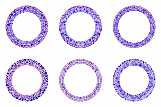 Ensemble de bordure de mosaïque géométrique - éléments de vecteur circulaire rond