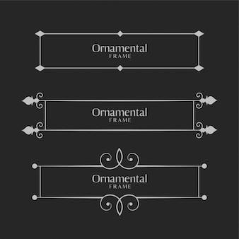 Ensemble de bordures de cadre décoratif décoratif